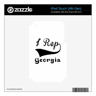 I Rep Georgia Skin For iPod Touch 4G