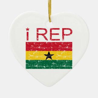 I rep Ghana Ceramic Ornament