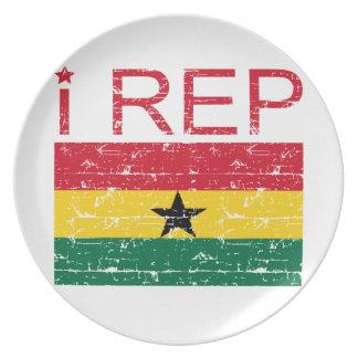 I rep Ghana Dinner Plate