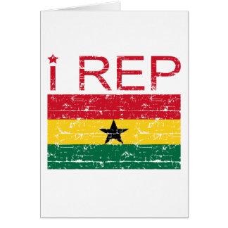 I rep ghana flag design card