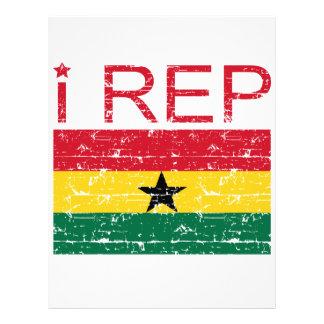 I rep ghana flag design letterhead