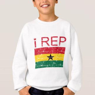 I rep ghana flag design sweatshirt