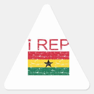 I rep ghana flag design triangle sticker