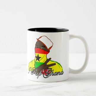 I rep Ghana Two-Tone Coffee Mug