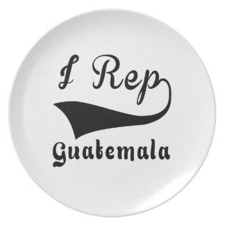 I Rep Guatemala Dinner Plate