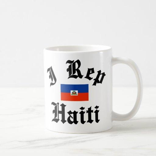 I rep haiti classic white coffee mug