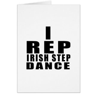 I REP IRISH STEPDANCE DESIGNS CARD