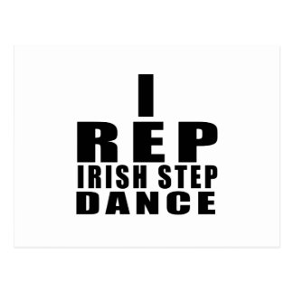 I REP IRISH STEPDANCE DESIGNS POSTCARD