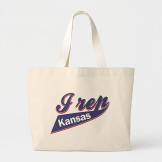 I Rep Kansas Large Tote Bag