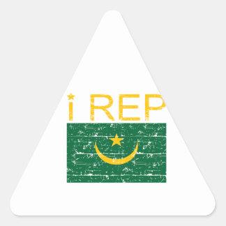 I rep Mauritania Triangle Sticker