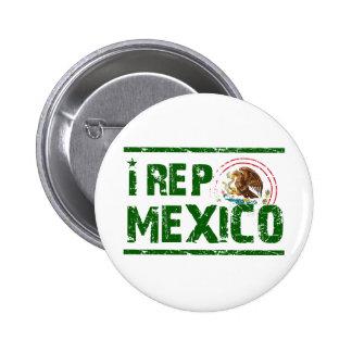 I rep mexico 2 inch round button