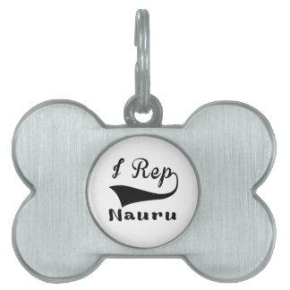 I Rep Nauru Pet ID Tag