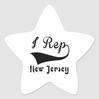 I Rep New Jersey Star Sticker