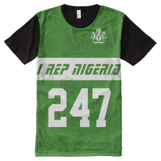 I rep Nigeria 247 All-Over Print Shirt