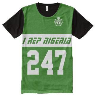 I rep Nigeria 247 All-Over Print T-shirt