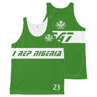 I rep Nigeria 247 All-Over Print Tank Top