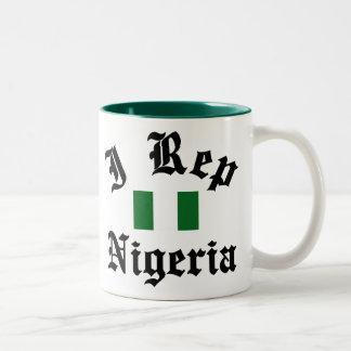 I rep Nigeria Two-Tone Coffee Mug