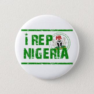 I rep Nigeria Pinback Button
