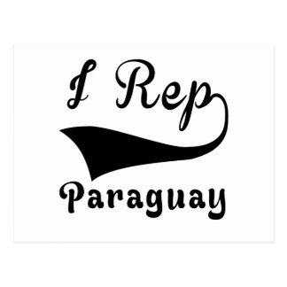 I Rep Paraguay Postcard