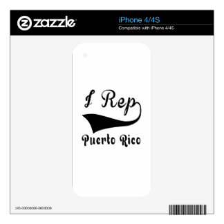 I Rep Puerto Rico Decals For iPhone 4