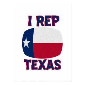 I Rep Texas designs Postcard