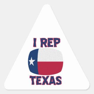 I Rep Texas designs Triangle Sticker