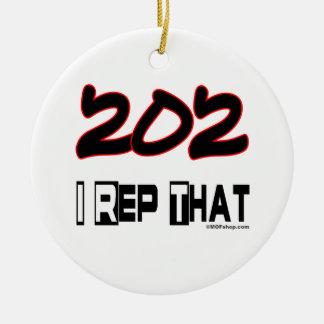 I Rep That 202 Area Code Ornaments