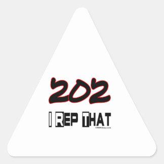 I Rep That 202 Area Code Triangle Sticker
