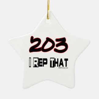 I Rep That 203 Area Code Christmas Ornaments
