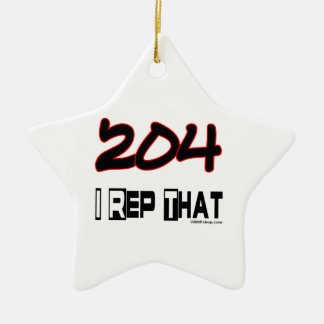I Rep That 204 Area Code Christmas Ornaments