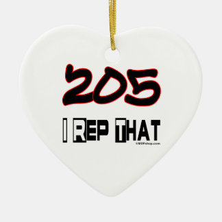 I Rep That 205 Area Code Christmas Ornaments