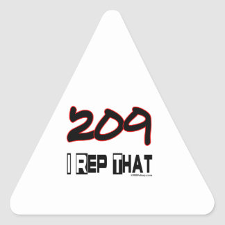 I Rep That 209 Area Code Triangle Sticker