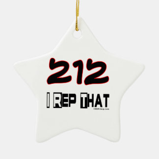 I Rep That 212 Area Code Christmas Tree Ornament