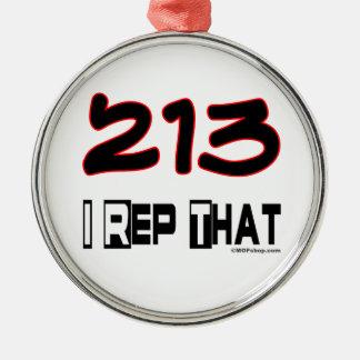I Rep That 213 Area Code Ornament