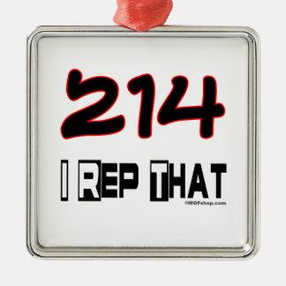 I Rep That 214 Area Code Ornaments
