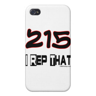 I Rep That 215 Area Code iPhone 4/4S Cover