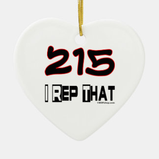 I Rep That 215 Area Code Christmas Ornaments