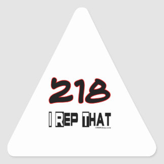 I Rep That 218 Area Code Triangle Sticker