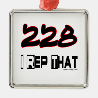I Rep That 228 Area Code Ornaments
