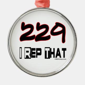 I Rep That 229 Area Code Christmas Ornament
