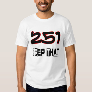 I Rep That 251 Area Code T-Shirt