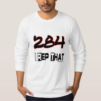 I Rep That 284 Area Code T-Shirt