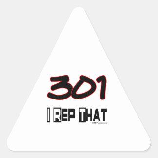 I Rep That 301 Area Code Triangle Sticker