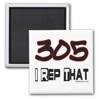 I Rep That 305 Area Code Fridge Magnets