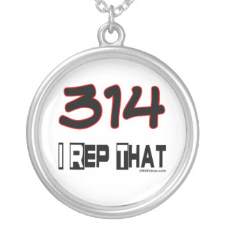 I Rep That 314 Area Code Silver Plated Necklace