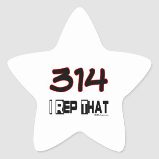 I Rep That 314 Area Code Star Sticker