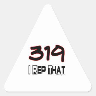 I Rep That 319 Area Code Triangle Sticker