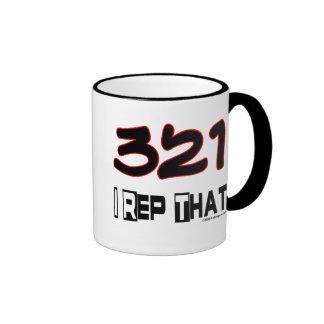 I Rep That 321 Area Code Ringer Mug