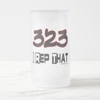 I Rep That 323 Area Code Mugs
