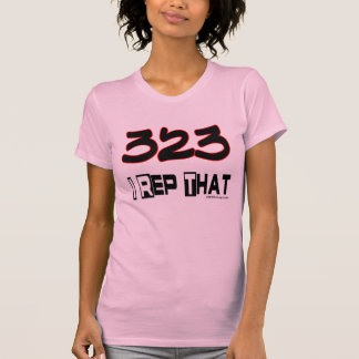 I Rep That 323 Area Code Tshirt